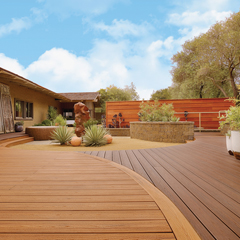 Decking materials wood decking materials comparison for Non wood decking material